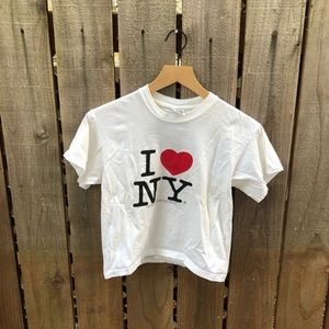 Vintage 90s I love New York Women's Crop Top